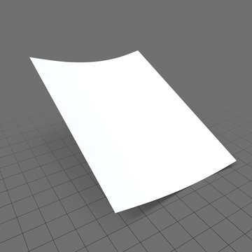 Single sheet of paper