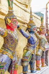 Giant statue of beautiful pagoda in bangkok. Thailand.