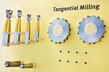 Tangential milling cutters for metal