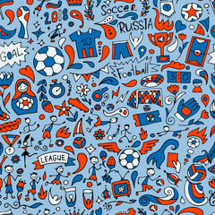 Soccer tournament, football league team international championship. Seamless pattern for your design