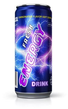 Energy drink in metal can