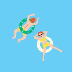 Baden mit Schwimmring