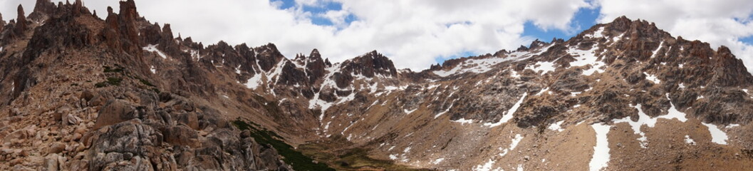 panorama of sthe mountains in medoza