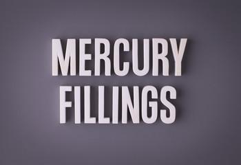 Mercury amalgam fillings sign lettering