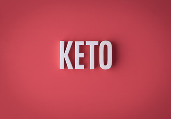 KETO Ketogenic diet sign lettering