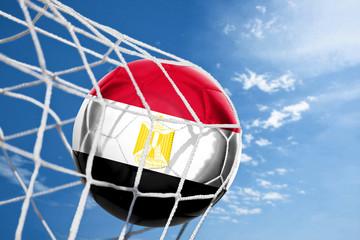 Fussball mit ägyptischer Flagge
