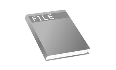 ファイルノート・表紙・モノトーン