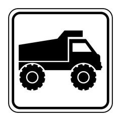Logo camion chantier.
