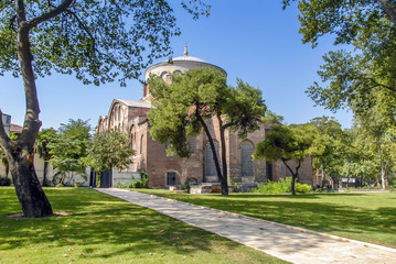 Hagia Irene or Hagia Eirene, sometimes known also as Saint Irene, is a Greek Eastern Orthodox church located in the outer courtyard of Topkapı Palace in Istanbul, Turkey, 1 September 2007