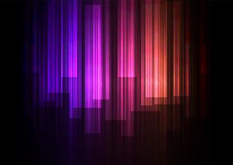 purple orange fade speed bar overlap in dark background, stripe layer backdrop, technology template, vector illustration