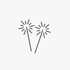 Sparklers vector sparks sparkling icon