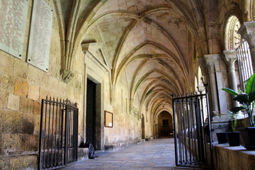 Cloister of the Cathedral of Tarragona in Catalunya, Spain