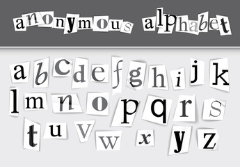 Newspaper Clipping Alphabet Set