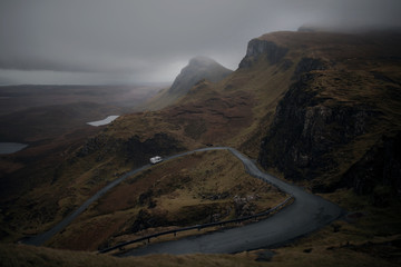 Moody road in Scotland