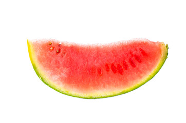 Ripe watermelon mini isolated on white background