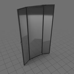 Modern three panel mirror