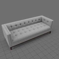 Transitional five seater sofa