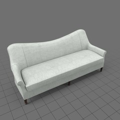 Transitional four seater sofa