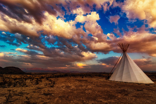 Teepee in the Mountains