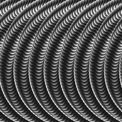 Abstract Background. Metal Wire Circles. Vector.