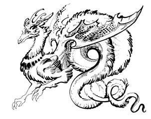 long winged dragon