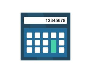 calculator blue business company office corporate image vector icon logo