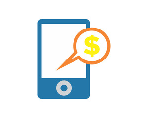 dollar phone business company office corporate image vector icon logo