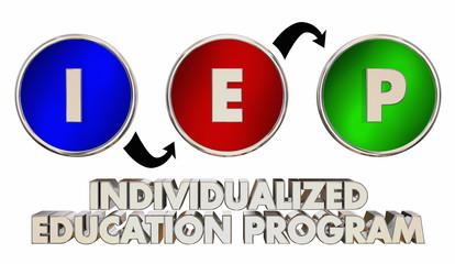 IEP Individualized Education Program Teaching Words 3d Render Illustration