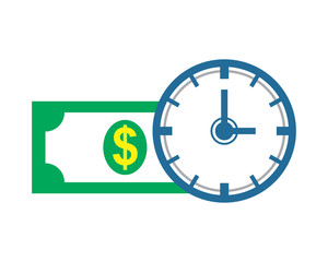 time is money business company office corporate image vector icon logo