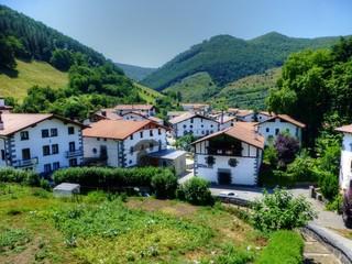 Leitza. Pueblo de 7 apellidos vascos en Navarra cerca de Pamplona, España