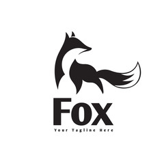 elegant stand fox logo extracted for looking