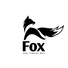 Simple jump fox logo
