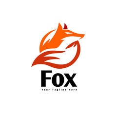 Circle fox extracted for look logo