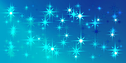 Vector blue background with blue stars.