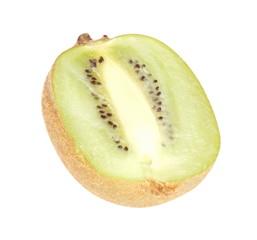 raw kiwi isolated on white
