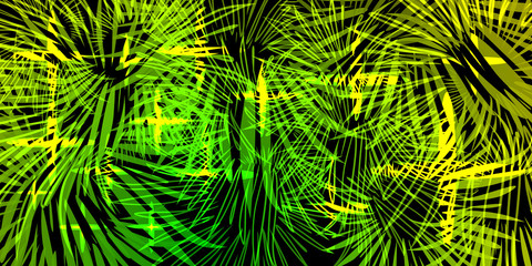 Vector neon background in lights and fireworks.