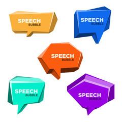 Speech Bubble 3d Style Set