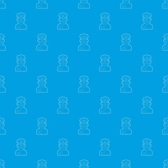 Policeman pattern vector seamless blue repeat for any use