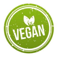 Wall Mural - Green Vegan Badge - Vegan Button. Eps10 Vector.