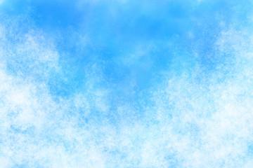 空 雲 夏 水彩 背景