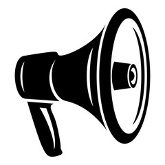 Loud megaphone icon. Simple illustration of loud megaphone vector icon for web design isolated on white background