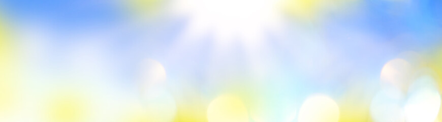 Sunny abstract blue nature background.