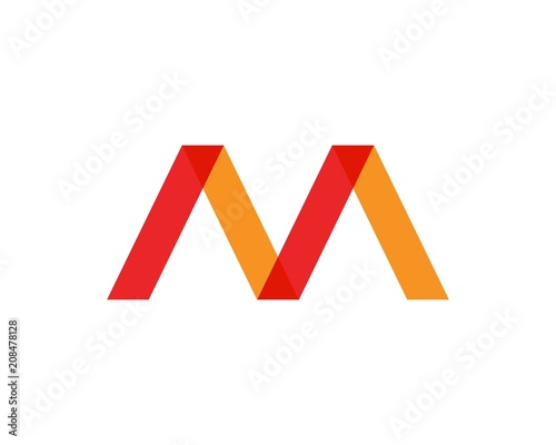 m letter logo business template icons fotolia com の ストック画像と