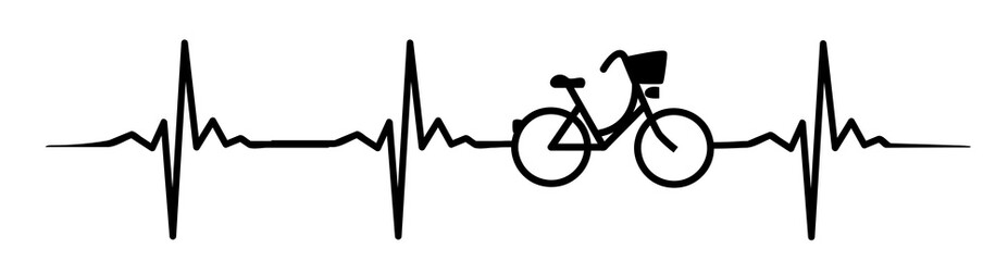 bicycle heartbeat #isoliert #vektor - Fahrrad Herzschlag