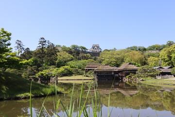 日本 彦根城 玄宮園