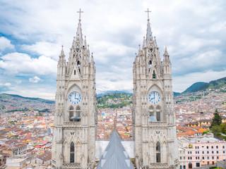 Quito in Ecuador from Basilica del Voto Nacional