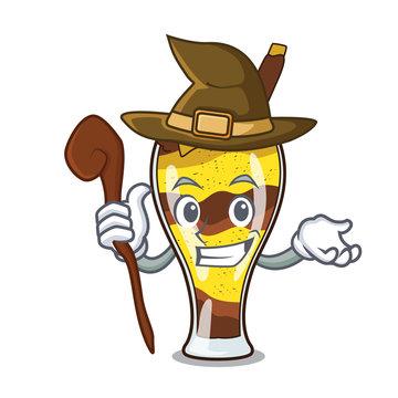 Witch mangonada fruit mascot cartoon