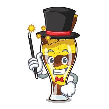 Magician mangonada fruit mascot cartoon
