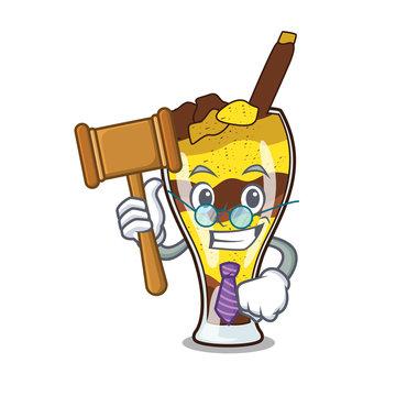 Judge mangonada fruit mascot cartoon