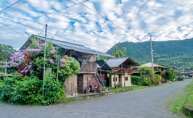 Foto op Canvas Zuid-Amerika land Small village of Mindo in Ecuador, South America